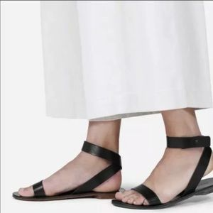 Everlane Ankle Wrap Black Leather Sandal